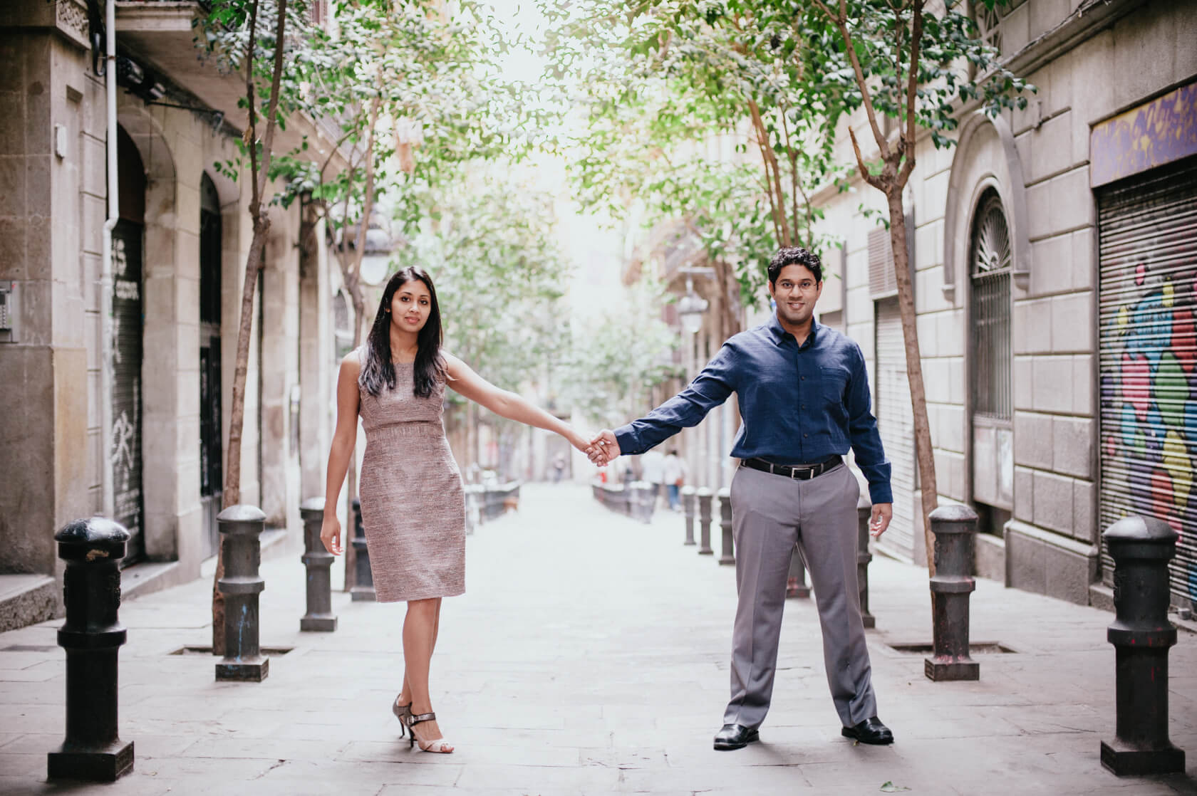 Engagement photo-shoot in Barcelona